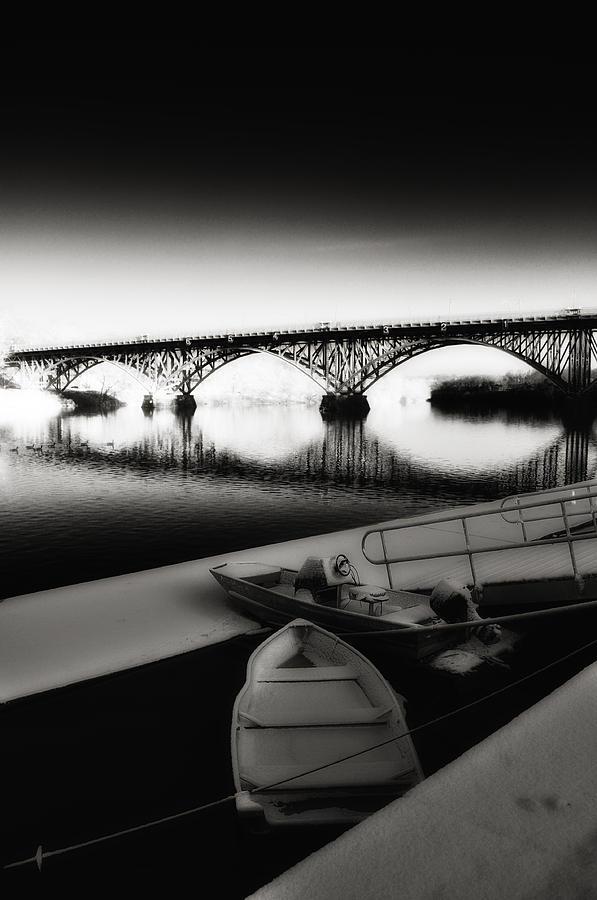Strawberry Mansion Bridge Photograph - Strawberry Mansion Bridge In Winter by Bill Cannon