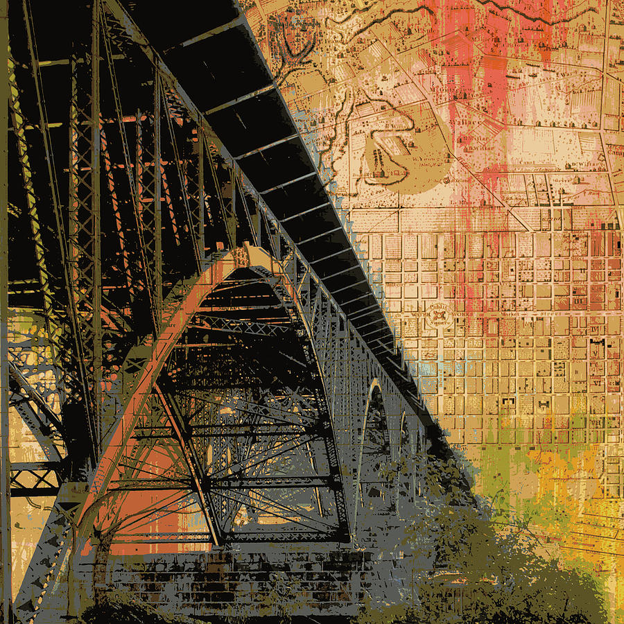 Brandi Fitzgerald Digital Art - Strawberry Mansion Bridge Philadelphia Pa by Brandi Fitzgerald