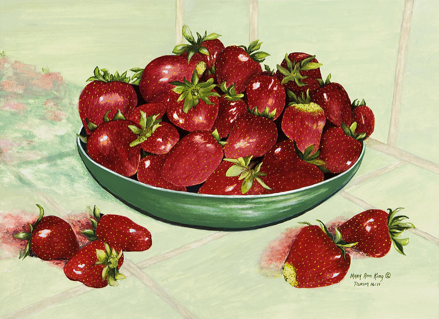 Ripe Strawberries Painting - Strawberry Memories by Mary Ann King