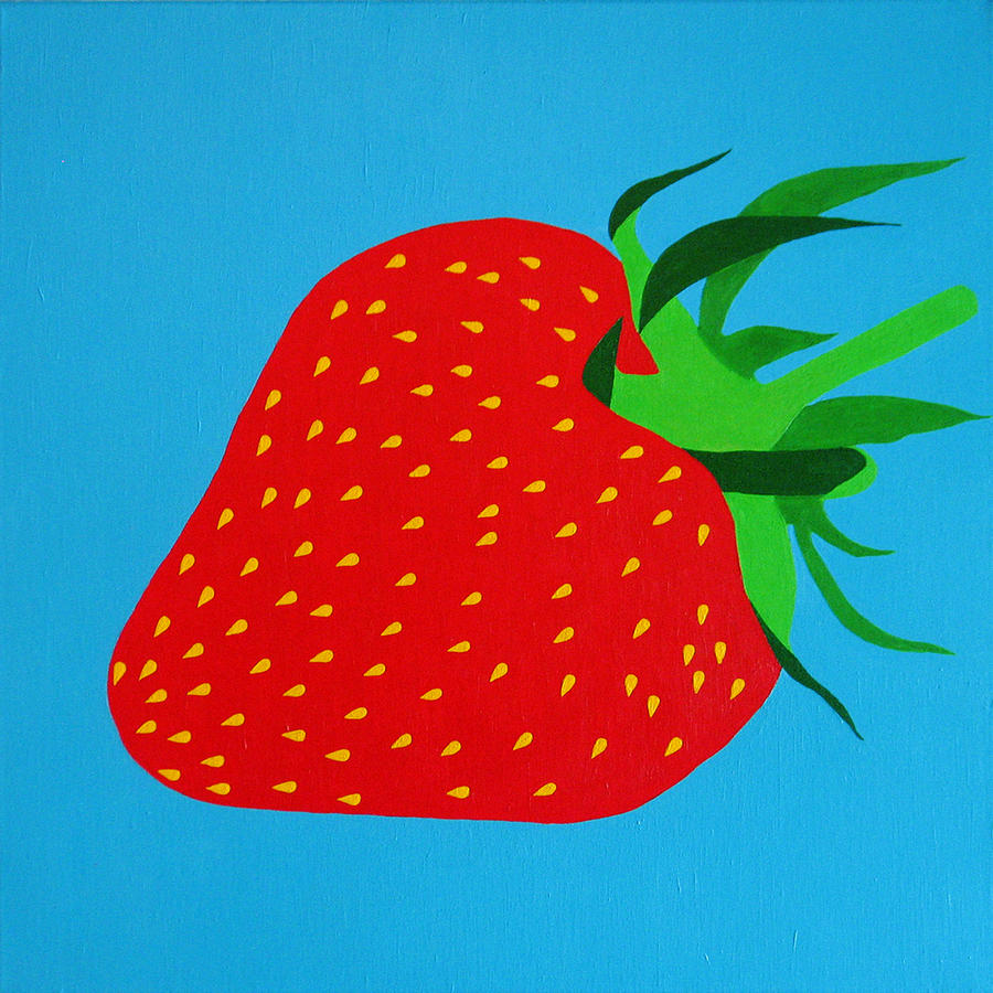 Abstract Painting - Strawberry Pop by Oliver Johnston