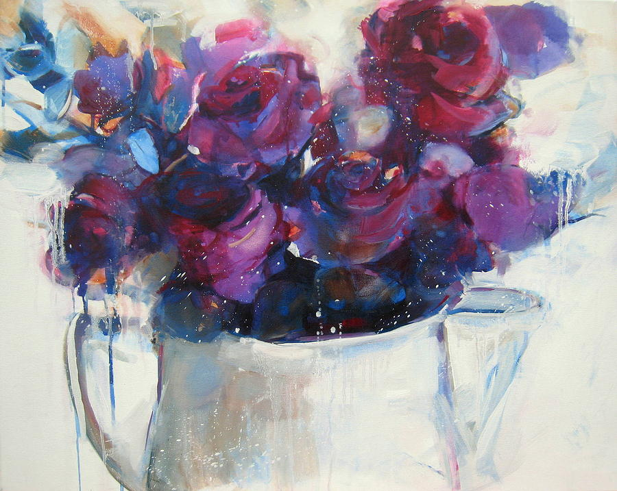 Rose Painting - Strawberry Ripple by Sharleen Boaden