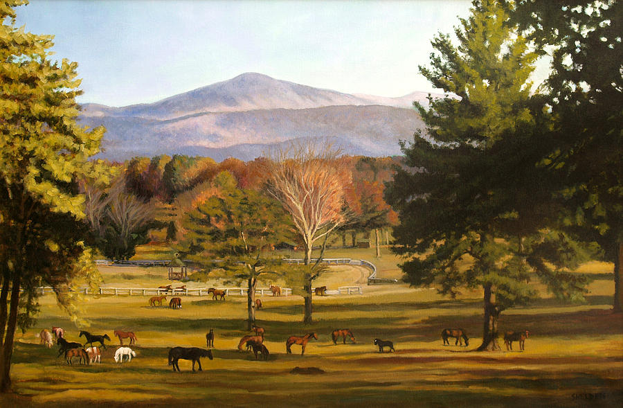 Strawderman Pastoral Painting by Suzanne Shelden