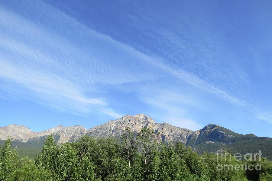 Mountain Photograph - Streaked Sky by Mary Mikawoz