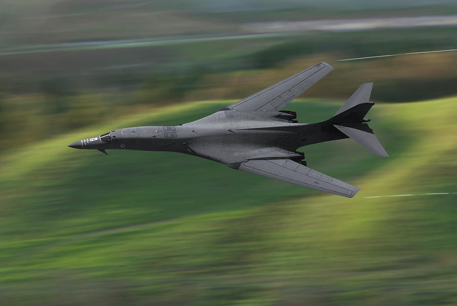 Military Aircraft Photograph - Streaking Across the Valley by Erik Simonsen