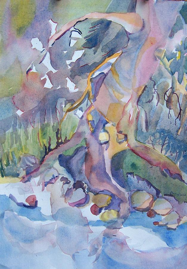 Stream Bed In Spring Painting by Patricia Bigelow