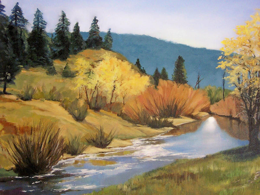 Landscape Painting - Stream In Modoc County by Maralyn Miller