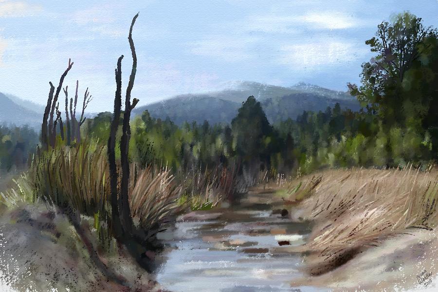 Stream Painting - Stream by Ivana Westin