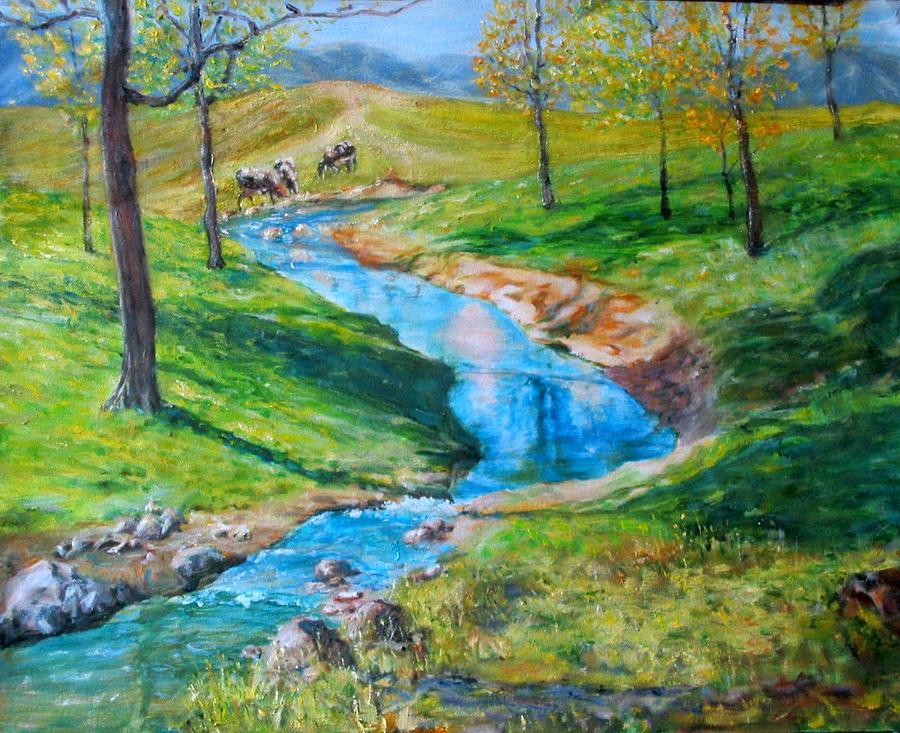 Stream Painting by Menq Tsai