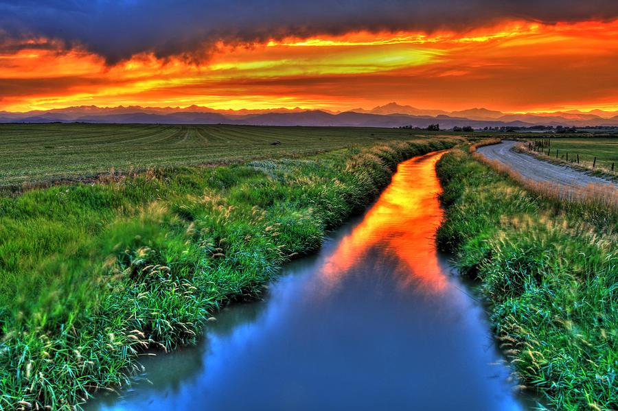 Colorado Photograph - Stream Of Light by Scott Mahon
