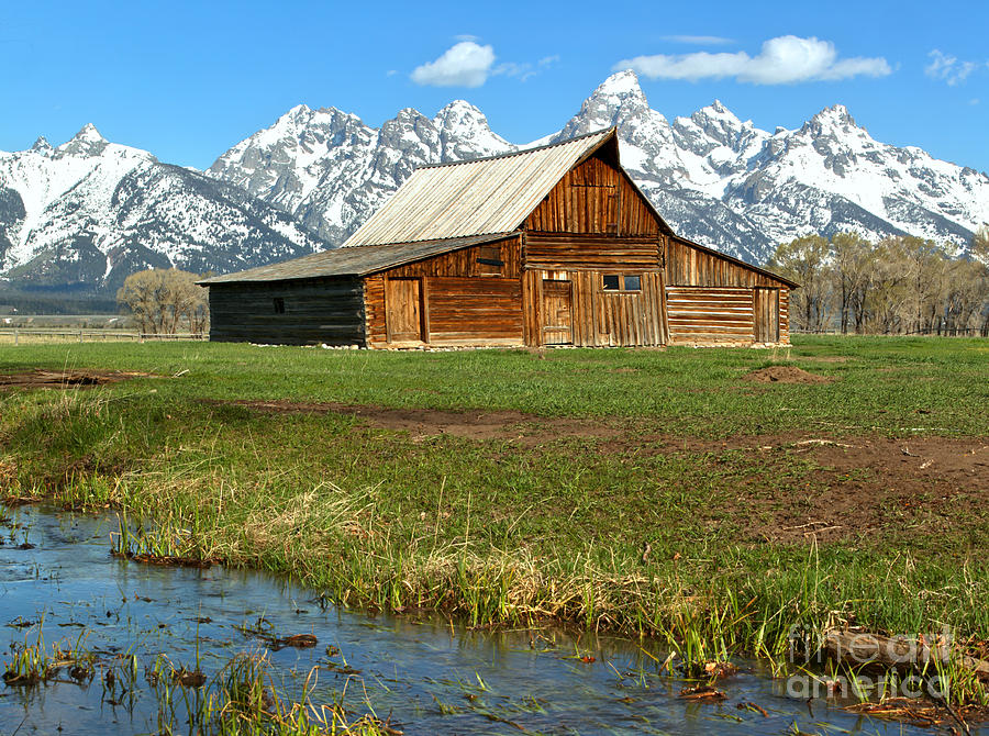 Moulton Barn Photograph - Streaming By The Moulton Barn by Adam Jewell