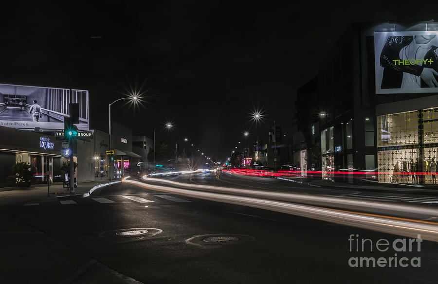Billboards Photograph - Streaming Lights On The Avenue by Kevin McCall