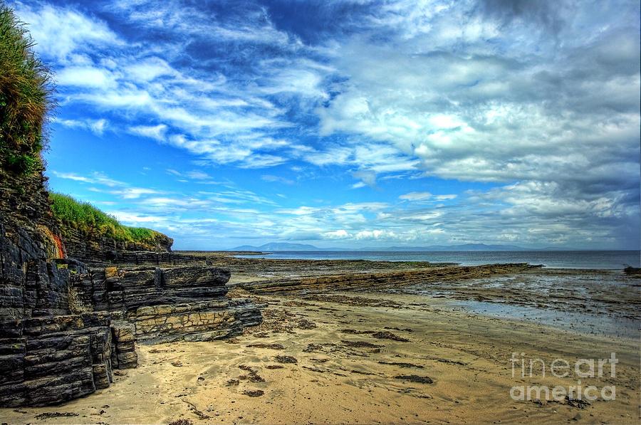 Fossils Photograph - Streedagh Beach by Kim Shatwell-Irishphotographer
