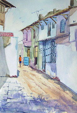 Painting Painting - Street 3 by Aashish Kataria
