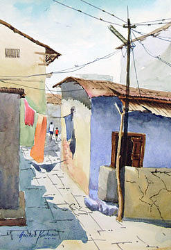 Painting Painting - Street 4 by Aashish Kataria