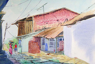 Painting Painting - Street 5 by Aashish Kataria