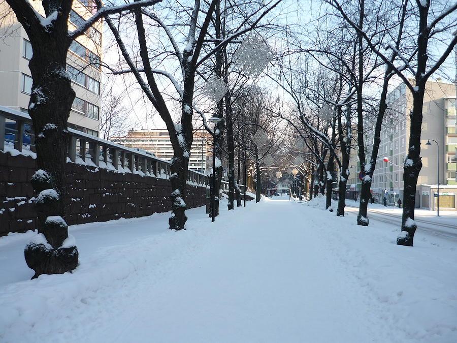 Walk Photograph - Street by AK Art