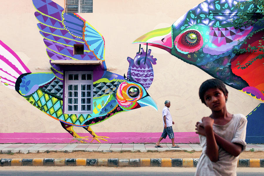 Delhi Photograph - Street Art by Marji Lang
