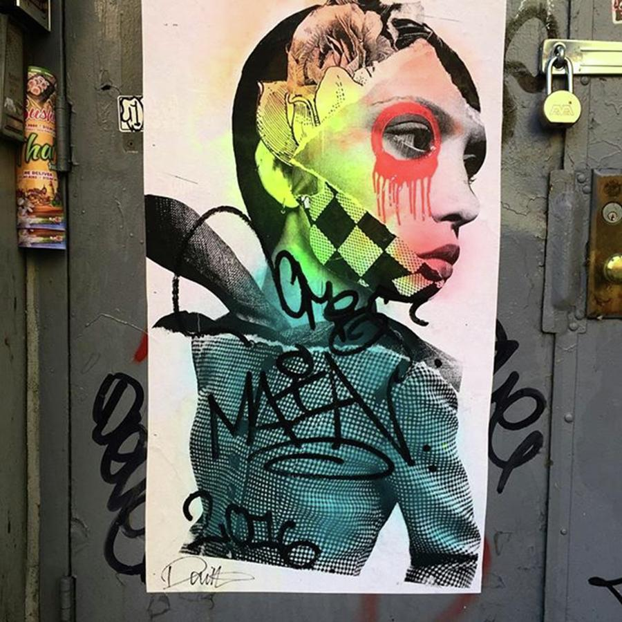 Tribeca Photograph - Street Art On West Broadway. #tribeca by Gina Callaghan