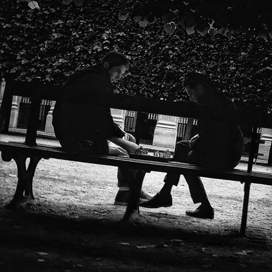 Citylife Photograph - Street Chess #chess #game #bench #park by Rafa Rivas