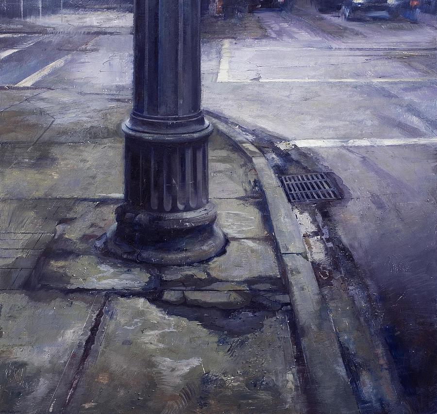 Street Corner Painting - Street Corner by Chris Flodberg