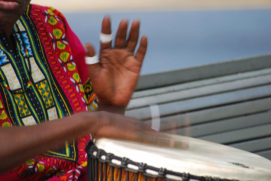 Music Photograph - Street Drummer by Steavon Horne
