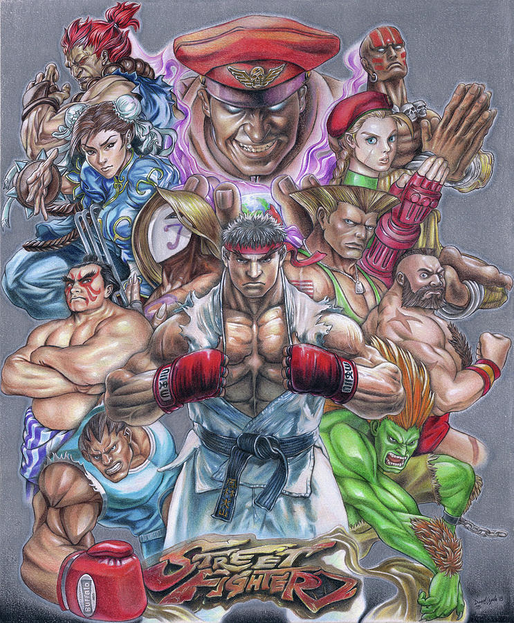 Street Fighter Drawing Art