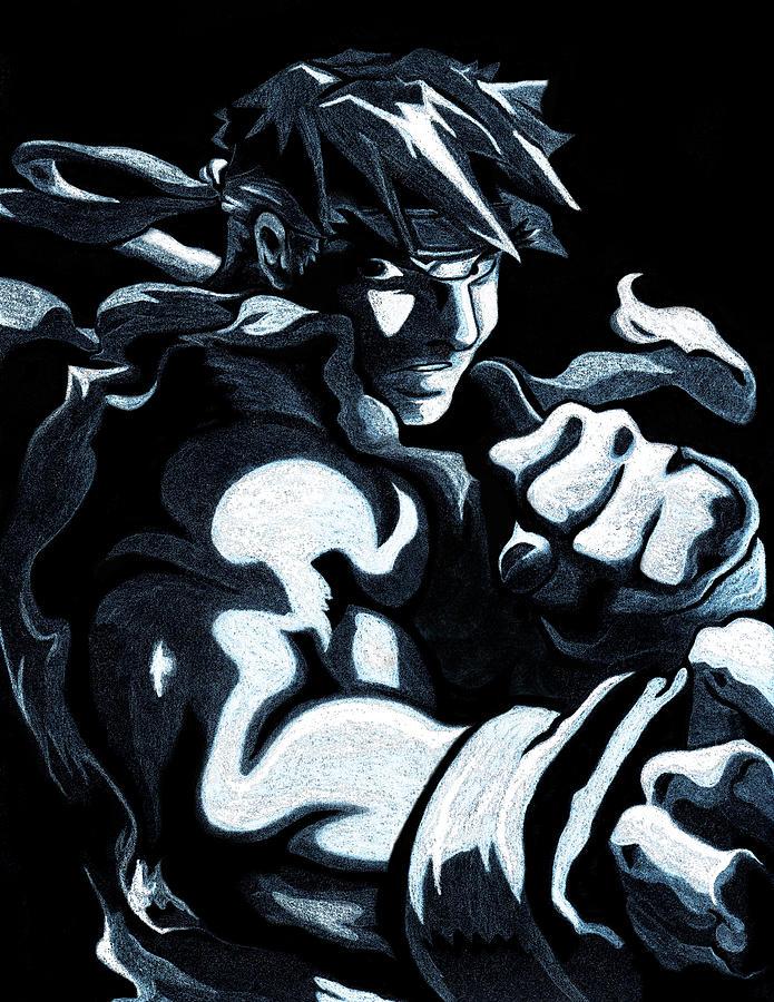 Street Fighter Ryu Drawing By Ivan Florentino Ramirez