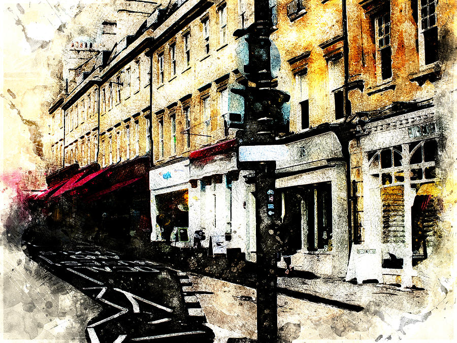 street in Bath by Art Di