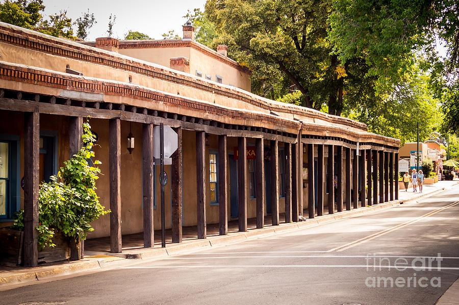 Old Town Santa Fe >> Street In Old Town Santa Fe