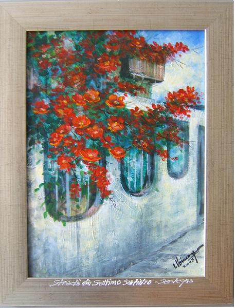 Landscape Painting - Street In settimo San Pietro-sardegna by Voineagu  Ion