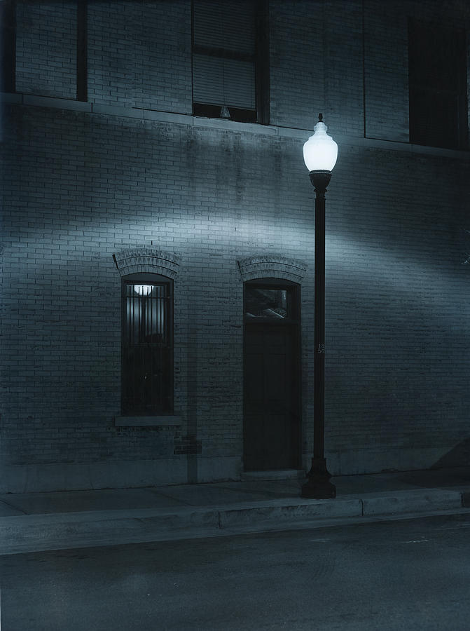 Street Light Photograph - Street Lamp Arc by Jim Furrer