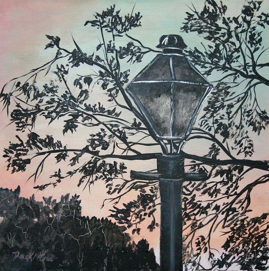 Street Lamp Historic Vintage Art Print Painting by Derek Mccrea