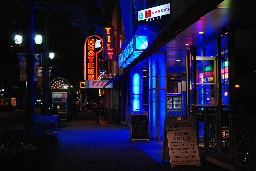 Night Photograph - Street Life by Steavon Horne