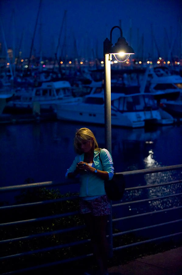 Elliott Photograph - Street Light Texting by Tom Dowd
