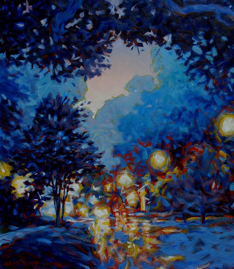 City Painting - Street Lights by Kevin Lawrence Leveque