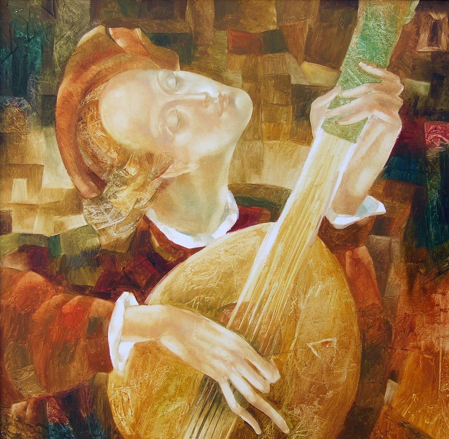 Musician Painting - Street Musician by - Ziusutra
