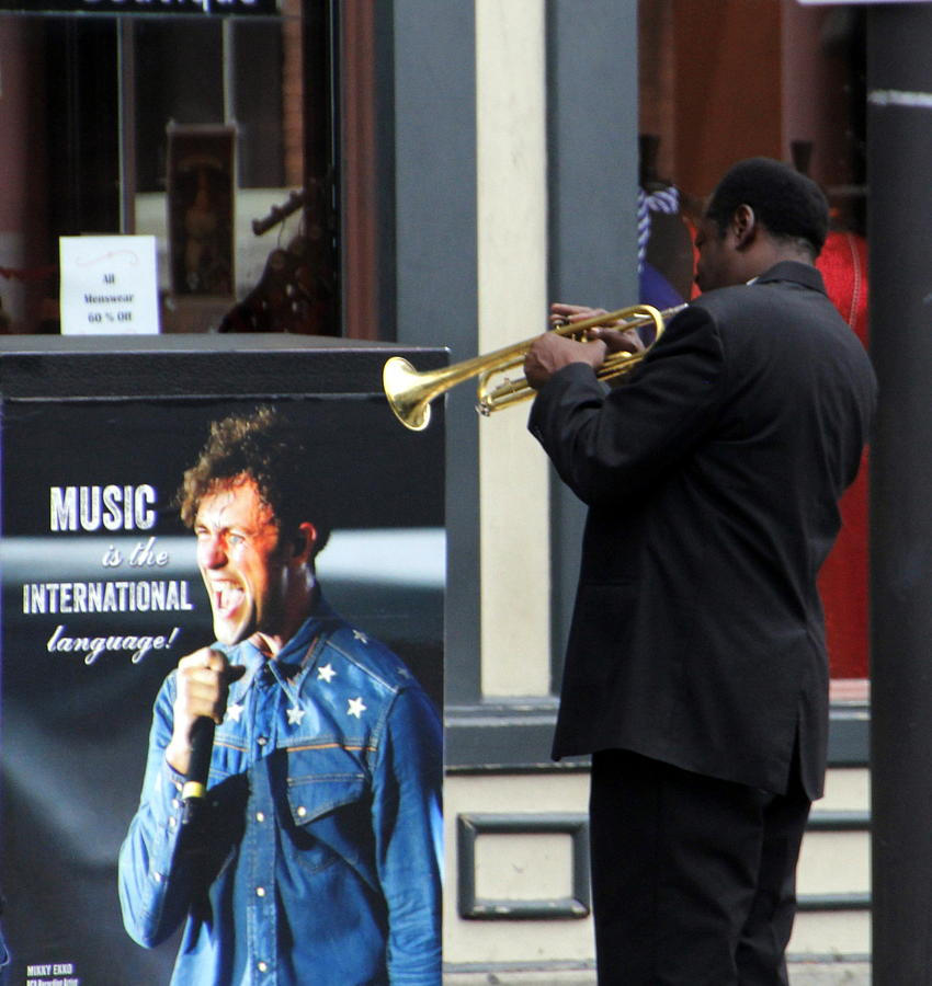 Street Musician With Trumpet Photograph