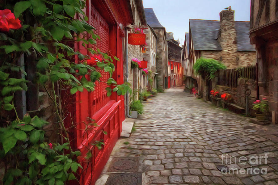 Street of Dinan 2 by Dominique Guillaume
