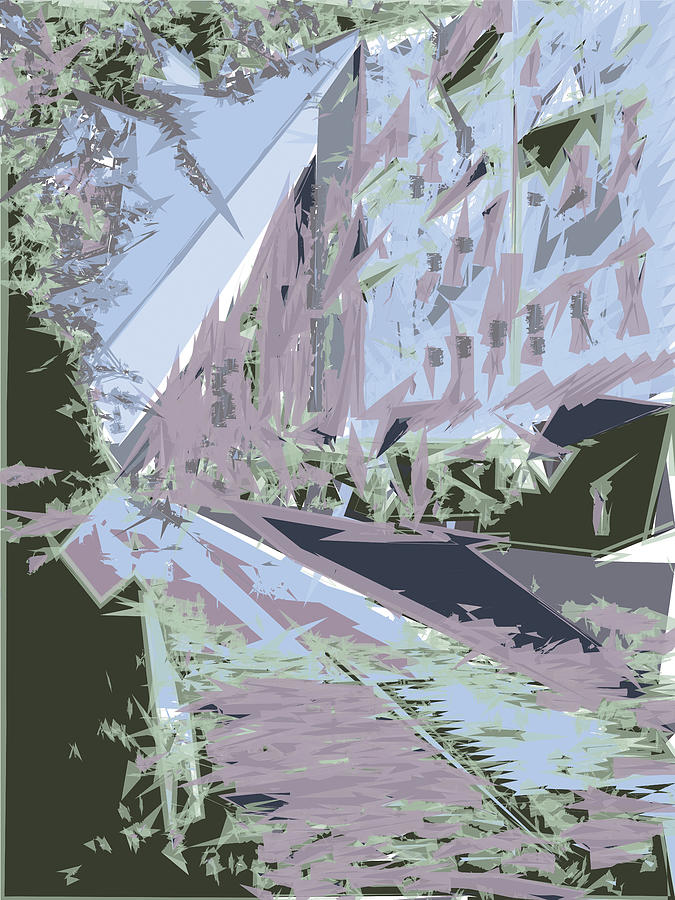 City Digital Art - Street on a River by Poster Book