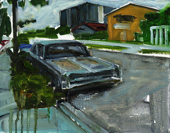 Urban Landscape Painting - Street Parking by Nick Mc Phail