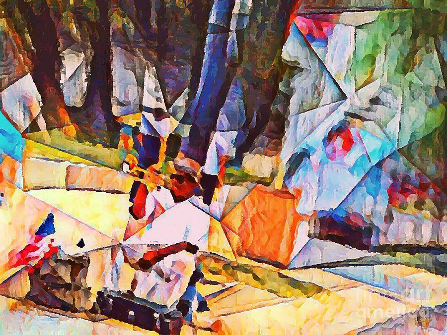 Trumpet Photograph - Street Performer by Dorian Hamilton
