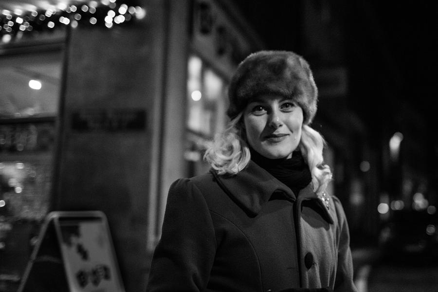 Woman Photograph - Street Portrait Of A Woman by The Man With a Hat
