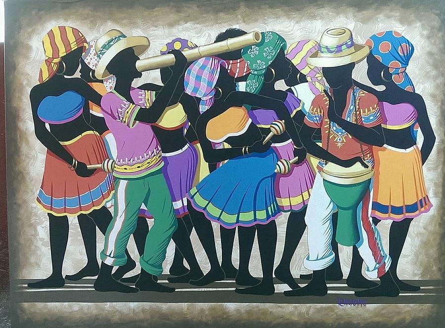 Street Ritual Dance Painting