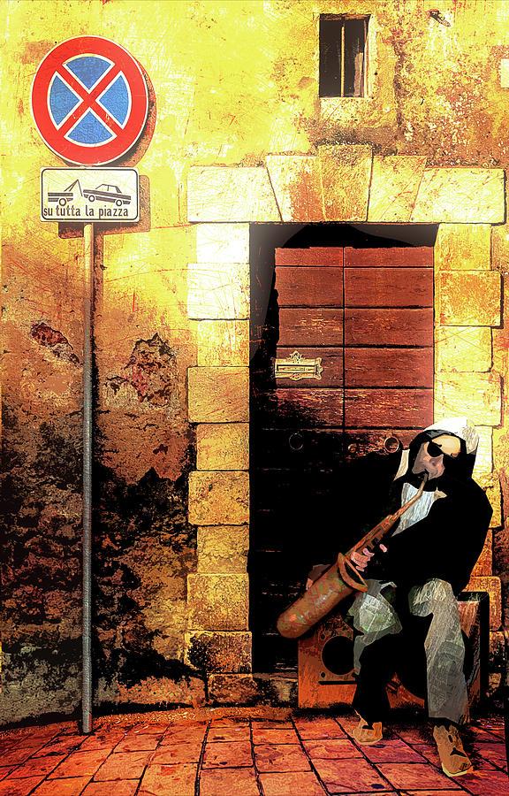 Homeless Digital Art - Street Sax by Regina Wyatt