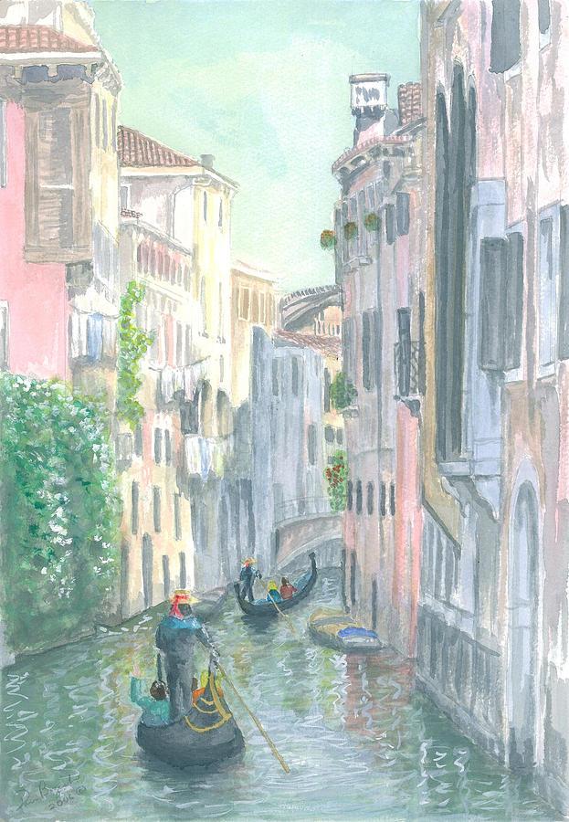 Venice Painting - Street Scene by Dan Bozich