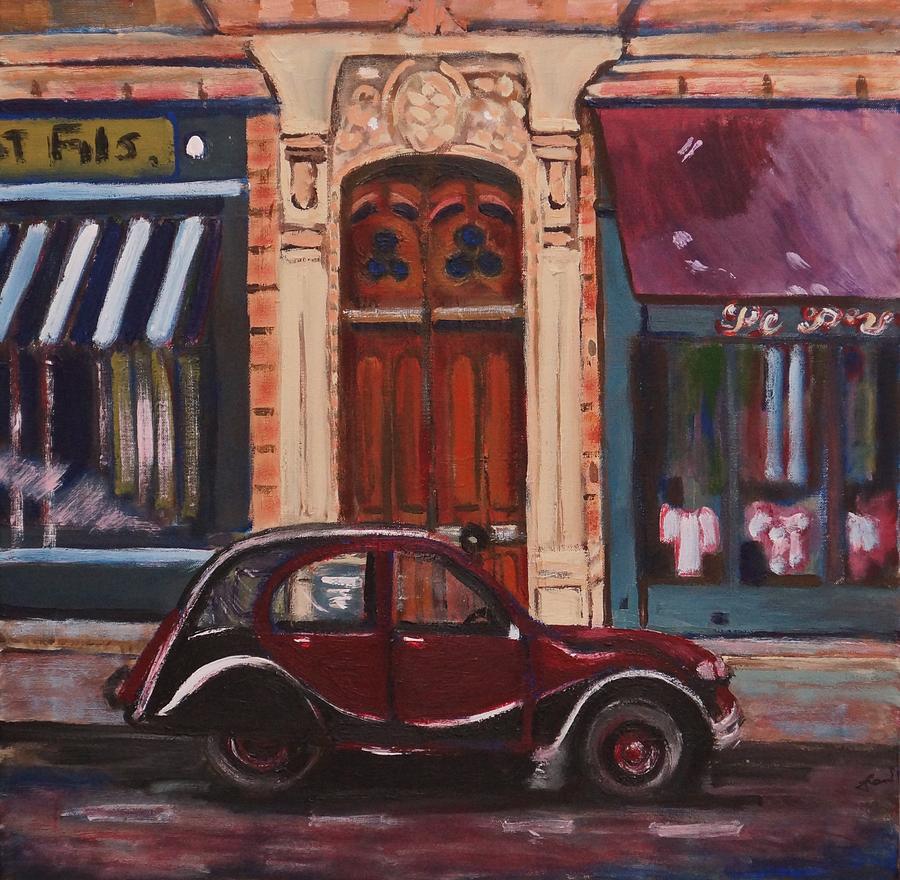 Landscape Painting - Street Scene Paris 3 by Fran Steinmark