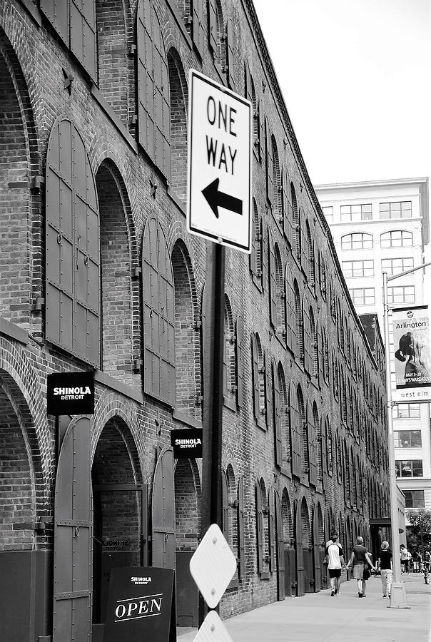 Blackandwhite Photograph - Street Sign by Aya Edlin
