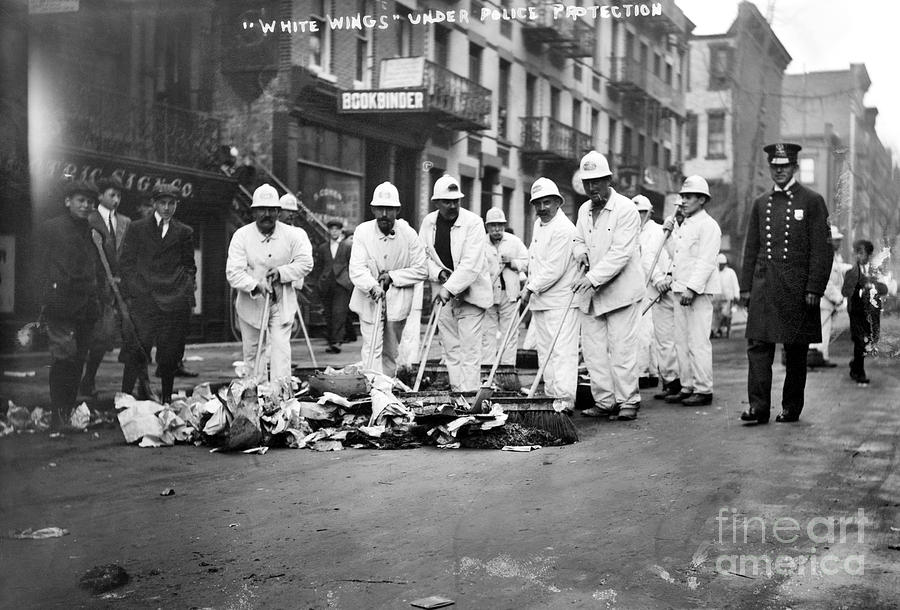 1911 Photograph - Street Sweepers, 1911 by Granger