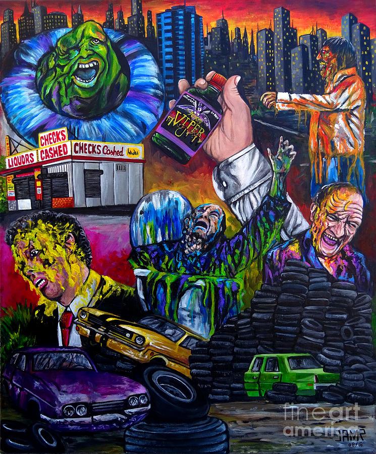 Street Trash Painting - Street Trash by Jose Mendez