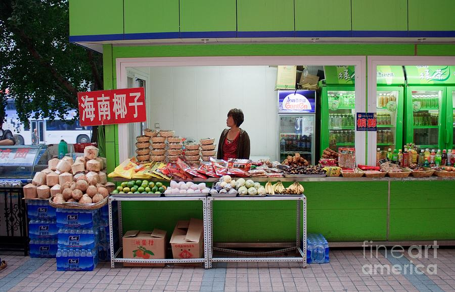 Stand Photograph - Street Vendor  Beijing by Thomas Marchessault